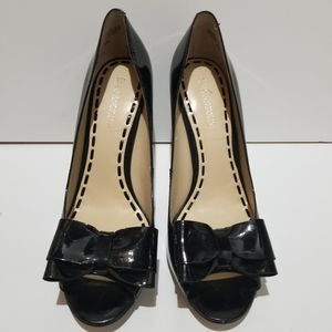Enzo Angiolini Open Toe Bow Pumps Size 8